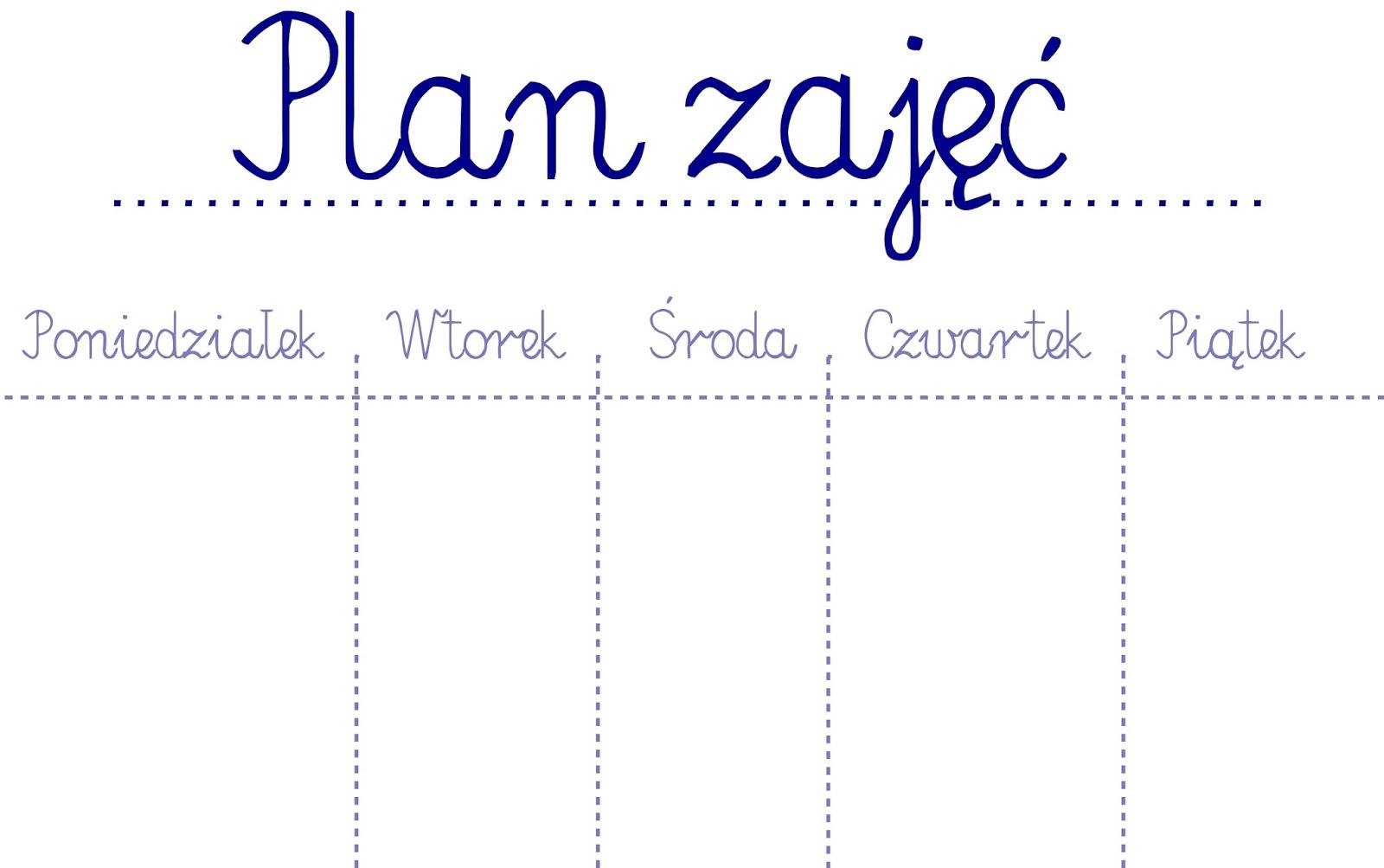 Grafika planu zajęć